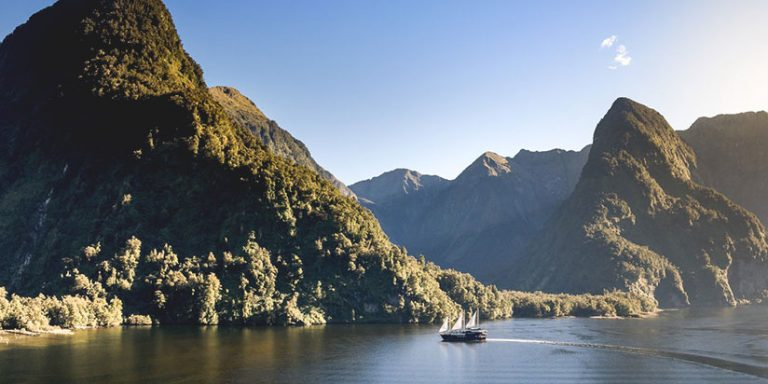 cruise ship in Doubtful Sound, Fiordland