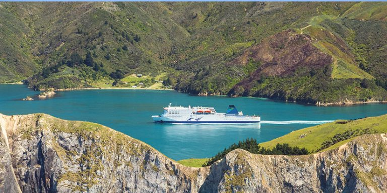 Interislander ferry crossing the strait